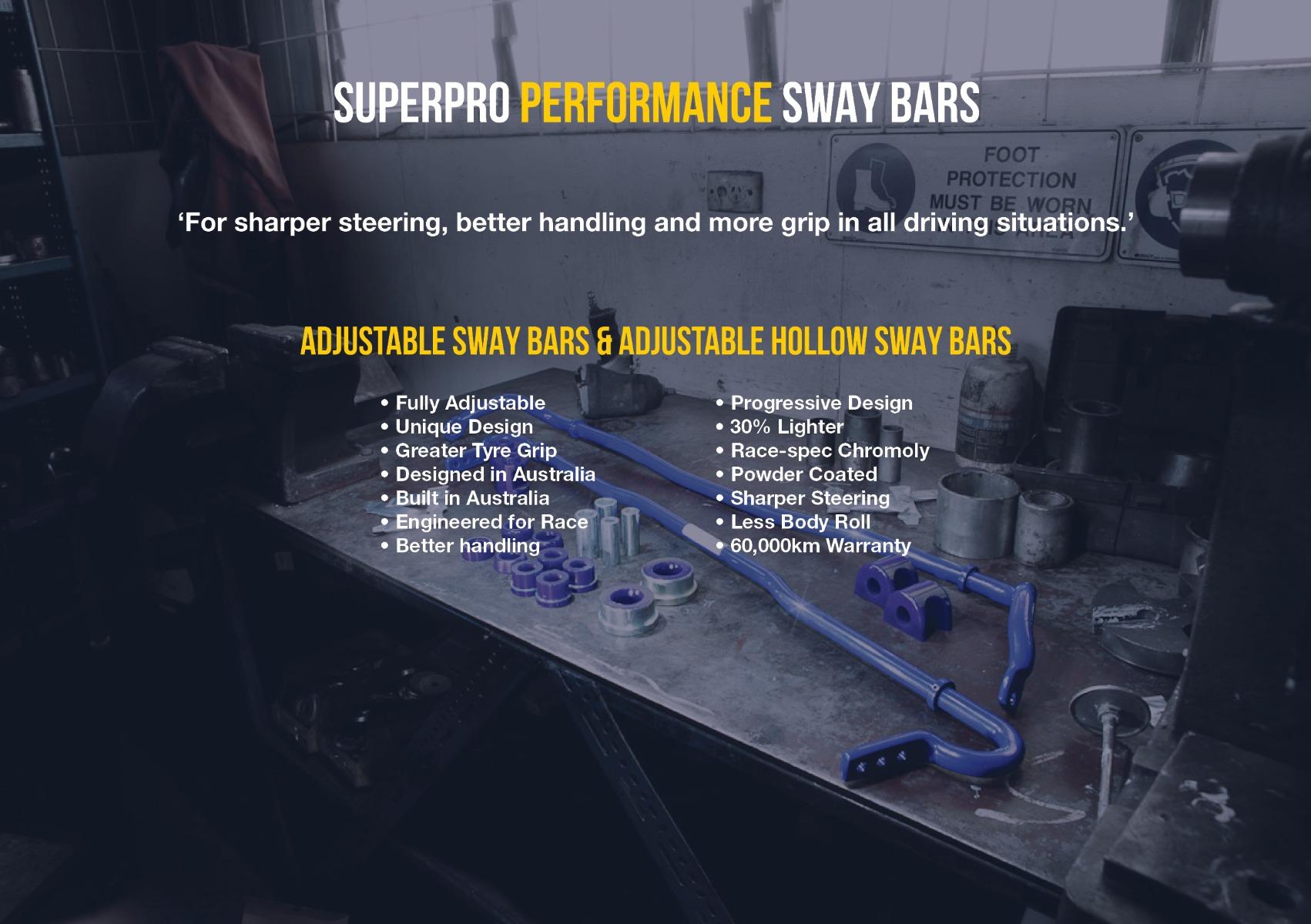 Fulcrum suspensions sells complete superpro sway bar kits
